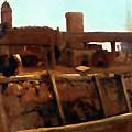 Wharf Scene by Media Impasto Paper