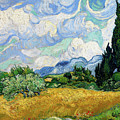 Wheat Field With Cypresses Van Gogh 1889 by Vincent Van Gogh