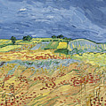 Wheat Field With Stormy Sky by Vincent van Gogh