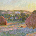 Wheatstacks, End Of Summer by Claude Monet