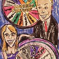 Wheel Of Fortune Pat Sajak And Vanna White by Geraldine Myszenski