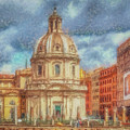 When In Rome 25 - Piazza Venezia 1 by Leigh Kemp