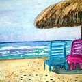 Peaceful Day At The Beach by Sue Carmony