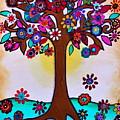 Whimsical Blooming Tree by Pristine Cartera Turkus