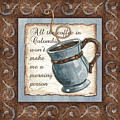 Whimsical Coffee 1 by Debbie DeWitt