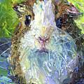 Whimsical Guinea Pig Painting Print by Svetlana Novikova