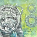 Whimsical Manatee by AnneMarie Welsh