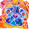 Whimsical Pug Dog by Jo Lynch