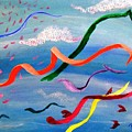 Whimsy Flying East by Peggy King