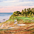Whistling Straits Golf Course 17th Hole by Bill Holkham