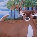 Whit Tall Buck by  Richard  Rollings