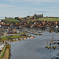 Whitby Marina And The River Esk by Rod Johnson