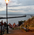 Whitby Steps Blue Hour by Sarah Couzens