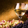 White And Red Wine by Garland Johnson