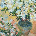 White Azaleas In A Pot by Claude Monet