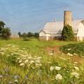 White Barn In Michigan by Susan Grube