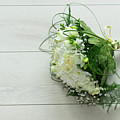 White Wedding Bouquet  by Anastasy Yarmolovich