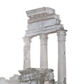 White Columns Temple Of Castor And Pollux In The Forum Rome Italy by Andy Smy