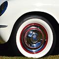 White Corvette Front Fender by Dean Ferreira