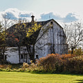 White Country Barn by Grace Grogan