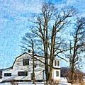 Winter In Ontario Digital Painting by Tatiana Travelways