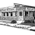 White Crystal Diner Nj Sketch by Edward Fielding