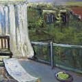 White Curtain View by Craig Newland