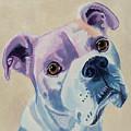 White Dog Portrait by Robyn Saunders