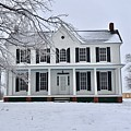 White Farm House During Winter by Jeramey Lende