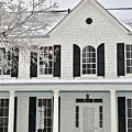 White Farm House In Winter by Jeramey Lende