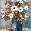 White Flower In Vase And Mug by Cuiava Laurentiu