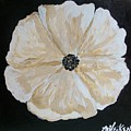White Flower On Black by Marsha Heiken