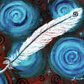 White Hawk Feather by Laura Iverson