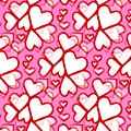 White Hearts - Valentines Pattern by Kathleen Sartoris