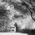 White House In Winter by Jim Vance