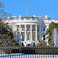 White House South Lawn With Snow by Cora Wandel