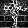 White Iron Cross Bw by Angelina Vick