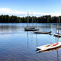 White Lake Sailboats by David Patterson