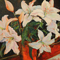 White Lilies by Nanci Cook