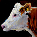 White On Brown Cow by Diane Whitehead