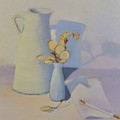 White On White Still Life by Emily Michaud