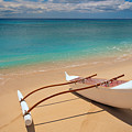 White Outrigger Canoe by Dana Edmunds - Printscapes