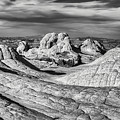 White Pocket Pano Bw by Jerry Fornarotto