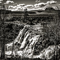 White River Falls Black  And White by Wes and Dotty Weber