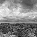 White River Valley Overlook Panorama 2 Bw by Michael Ver Sprill