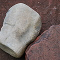 White Rock On Red Rock Number 1 by Heather Kirk