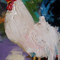 White Rooster by Susan Jenkins