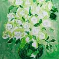 White Roses by Hae Kim