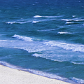 White Sand Ocean Waves by Theresa Campbell