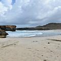 White Sandy Deserted Beach On The East Coast Of Aruba by DejaVu Designs